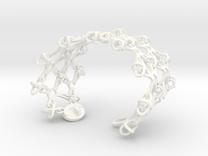 X Brace Wristlet (Sz L) in White Strong & Flexible Polished