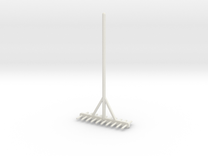 Miniature rake 1/12 in White Strong & Flexible