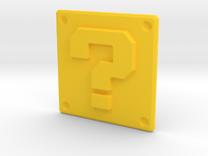 Question mark panel in Yellow Strong & Flexible Polished