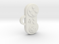 Snes Controller pendant/keychain in White Strong & Flexible