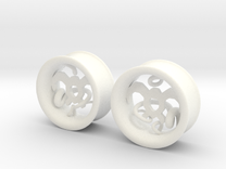 Wind Tamer 1 Inch Tunnels in White Strong & Flexible Polished