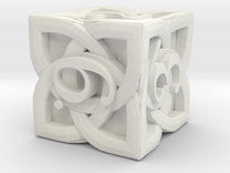 Celtic D6 - Solid Centre for Plastic in White Strong & Flexible