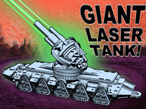 GIANT LASER TANK !!! (3 inch version) in Frosted Ultra Detail