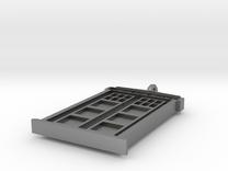 Tardis Door Necklace v3.1 in Raw Silver
