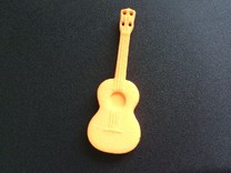 Small Ukelele in Orange Strong & Flexible Polished