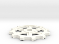 Sprocket in White Strong & Flexible Polished