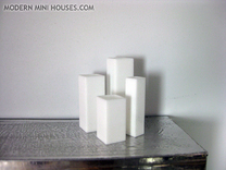 Tower Vase Collection 1:12 scale dollhouse minis in White Strong & Flexible Polished