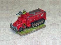 15mm Greenskin Party Wagons (x2) in White Strong & Flexible