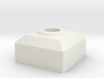 Retro Arcade Joystick 8 Way Adapter Block in White Strong & Flexible