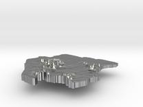 Suriname Terrain Silver Pendant in Raw Silver