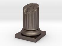 Pillar Broken Stump Variation 01 Lrg in Stainless Steel