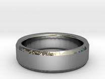 Mens Wedding Band in Premium Silver: 8 / 56.75