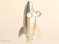 Launch-Me Rocket sans-initials in Stainless Steel