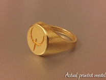 Quake Live signet ring. US size 14   UK size Z3 in Stainless Steel