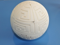 MazeBall in White Strong & Flexible