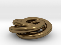 Torus Knot Pendant in Polished Bronze