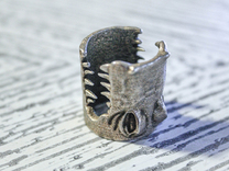 Gator Ring (US Size 12) in Stainless Steel