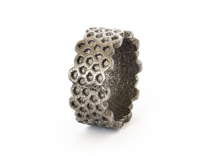 Cairo Ring in Polished Nickel Steel: 8 / 56.75