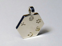 Statement for Peace: Buddhist pendant in Polished Silver