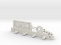 Key Chain Keyholder fam Buurman in White Strong & Flexible