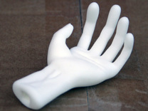 Hand in White Strong & Flexible