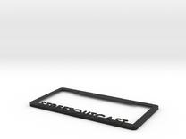 Streetoutcast License Plate Frame in Black Strong & Flexible