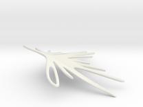 Earrings - Featherstrike LEFT in White Strong & Flexible