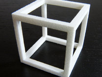 Cube in White Strong & Flexible