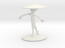 Girl With Hat 4''  in White Strong & Flexible