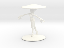 Girl With Hat 3'' in White Strong & Flexible Polished