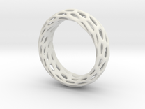Trous Ring Size 8.5 in White Strong & Flexible