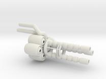"""""""Wrecker's"""" Heavy Artillery Minigun - small in White Strong & Flexible"""