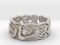 Sara 05 Ring Size 8 in Rhodium Plated