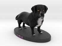 Custom Dog Figurine - Lola in Full Color Sandstone