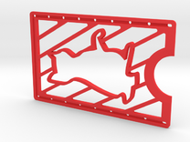 CardWallet Cat Left in Red Strong & Flexible Polished