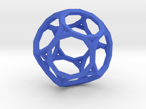 Truncated Dodecahedron(Leonardo-style model) in Blue Strong & Flexible Polished