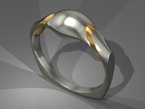 Qolombeh Ring in Polished Bronze Steel