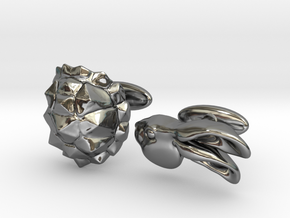 Tortoise and the Hare in Fine Detail Polished Silver