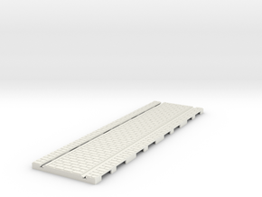 P-32st-tram-long-straight-100-1a in White Natural Versatile Plastic
