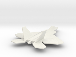 F22 Raptor TOM 05Jul2015 1/285 scale in White Strong & Flexible