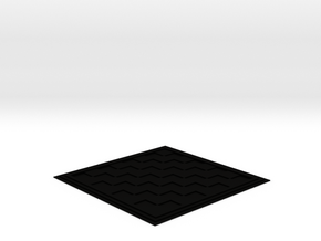 Chess/Checker Board in Matte Black Steel