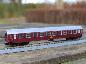 DSB class B coach N scale in Smooth Fine Detail Plastic