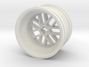 Wheel Design III MkII in White Natural Versatile Plastic