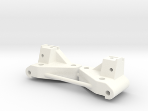NIX62082 HD Front Arm Mounts (20deg.) in White Strong & Flexible Polished