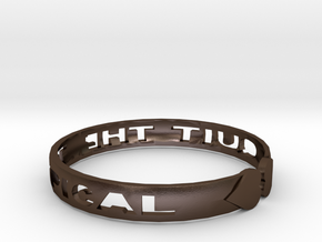 Quit The Typical Bracelet in Polished Bronze Steel