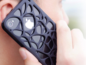 iPhone 4 / 4s case - Cell 2 in Black Natural Versatile Plastic