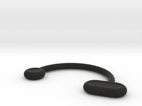 Nose Insert1 8 R1 11.5 R2 1.0 R3 2.0 R4 1.2 Theta  in Black Natural Versatile Plastic