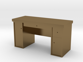 HO Scale Desk  in Polished Bronze