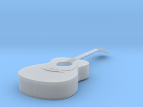 1/18 Acoustic Guitar in Smooth Fine Detail Plastic