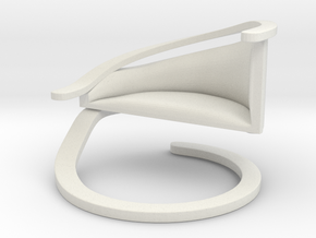 Chair No. 28 in White Natural Versatile Plastic